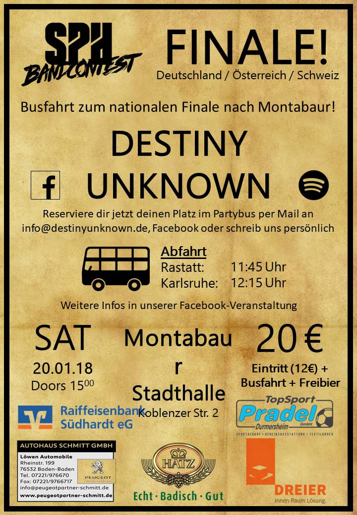 Destiny Unknown - Finale des SPH Contest in der Stadthalle Montabaur